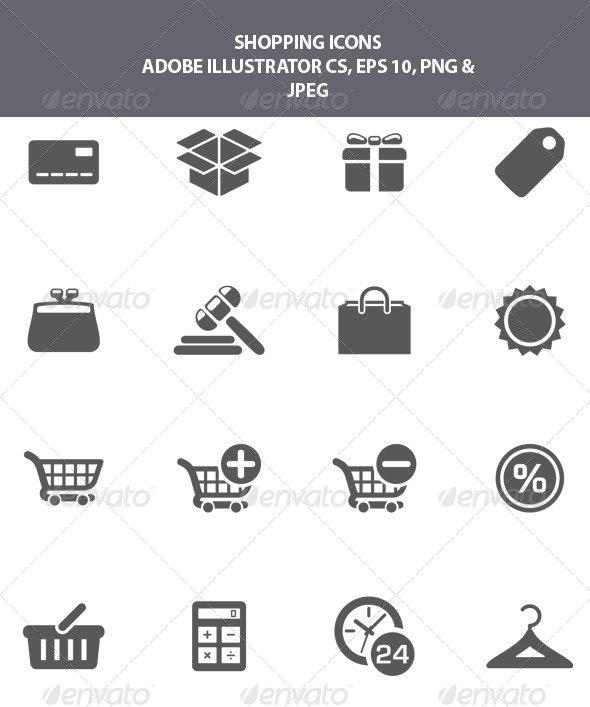 Shopping Icons - Web Icons