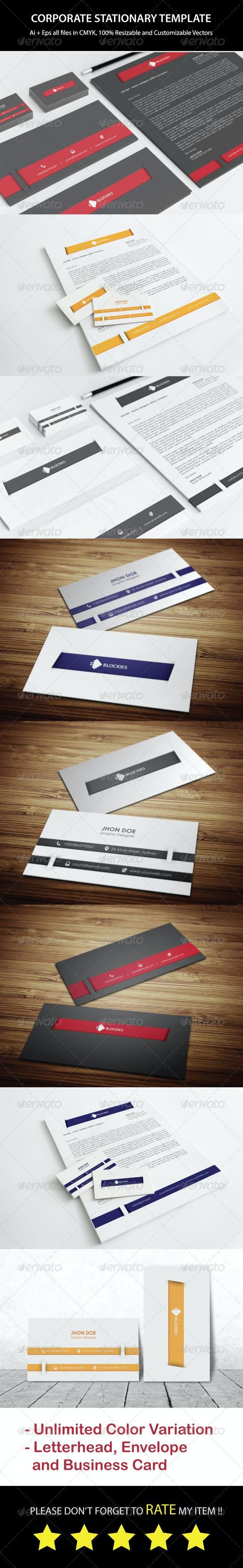 Corporate Stationery Template V.2 - Stationery Print Templates