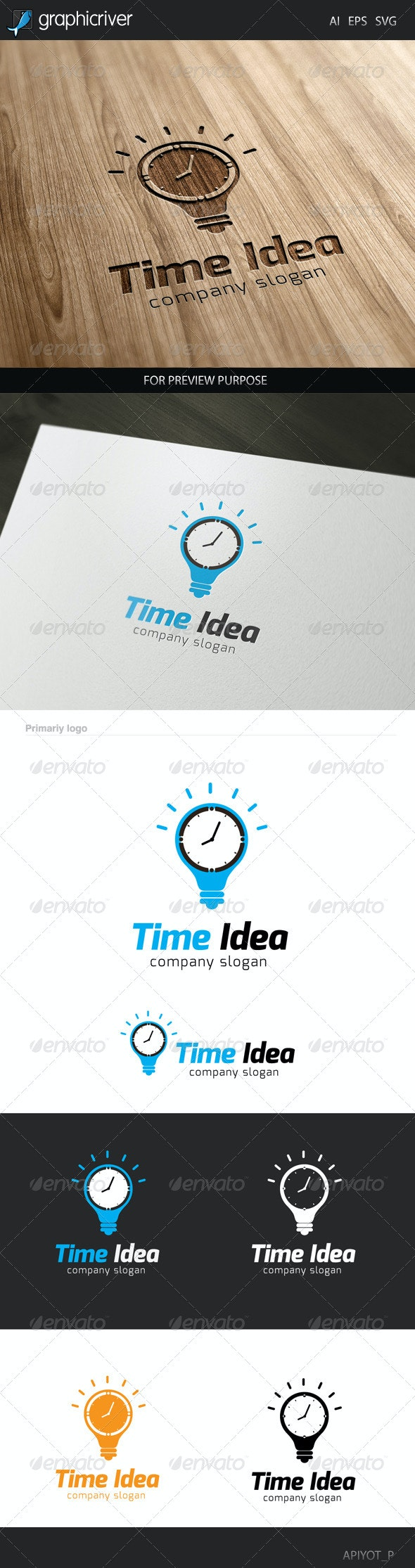 Time Idea Logo - Symbols Logo Templates