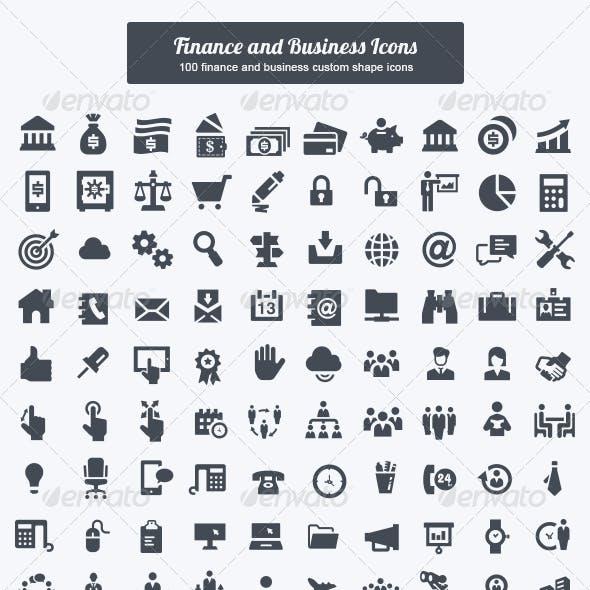 Finance and Business Custom Shape Icons