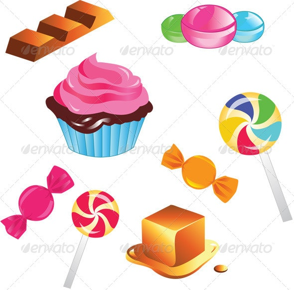 Sweets Set - Food Objects