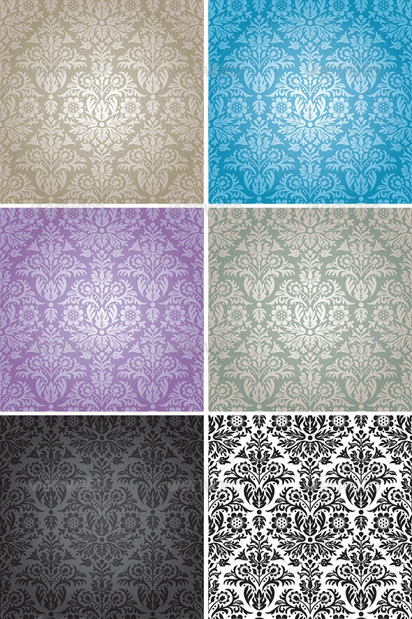 Damask Seamless Floral Pattern Background - Patterns Decorative