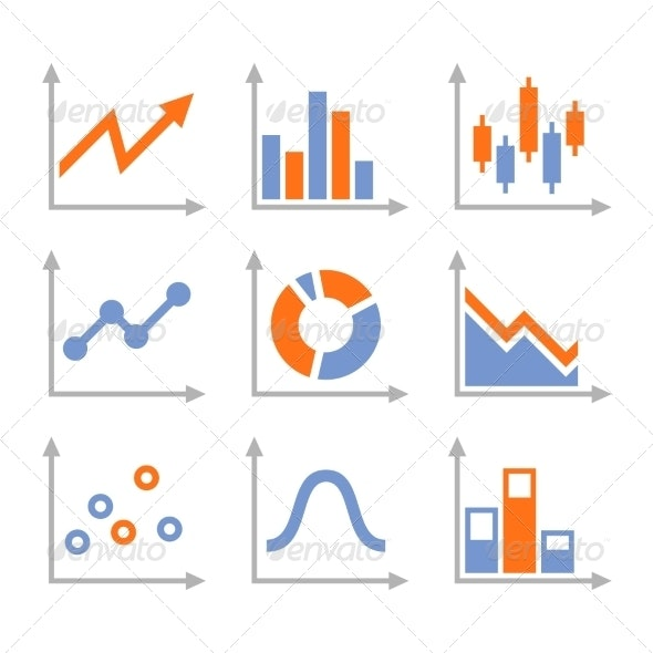 Simple Set of Diagram and Graphs - Concepts Business