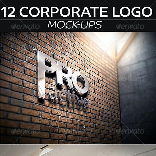 12 Corporate Logo Mockup