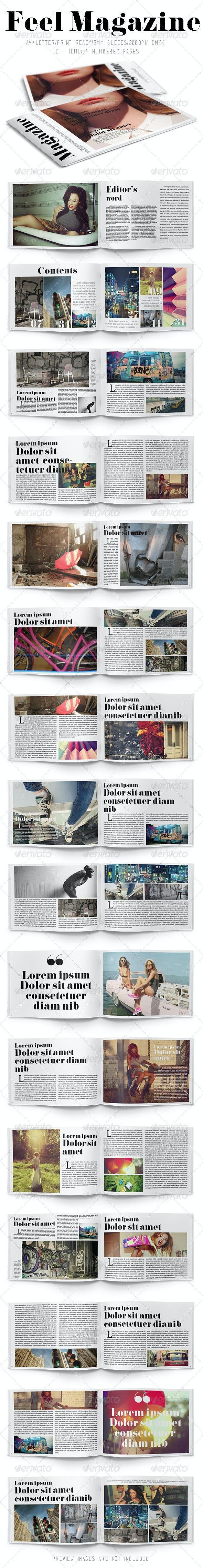 Feel Magazine - Magazines Print Templates