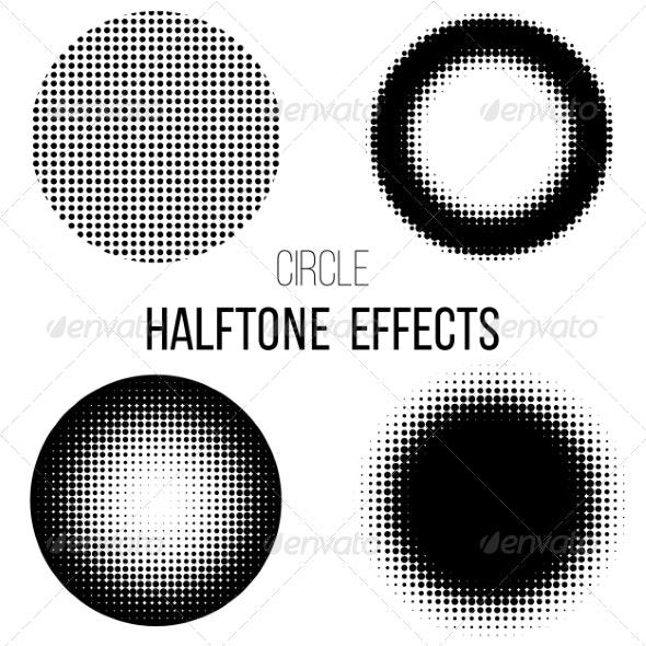 Abstract  Halftone - Decorative Symbols Decorative