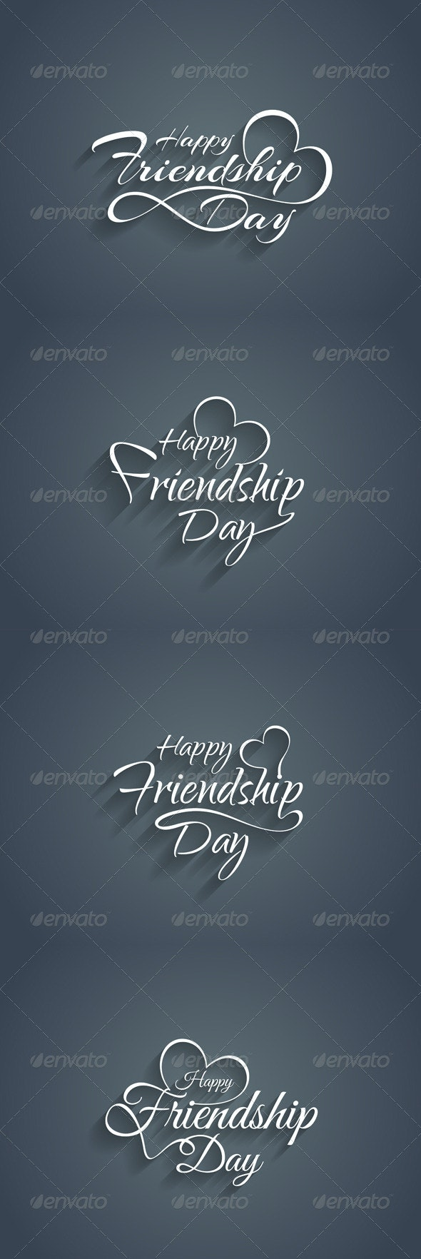 Happy Friendship Day Text Design - Miscellaneous Seasons/Holidays