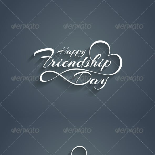 Happy Friendship Day Text Design