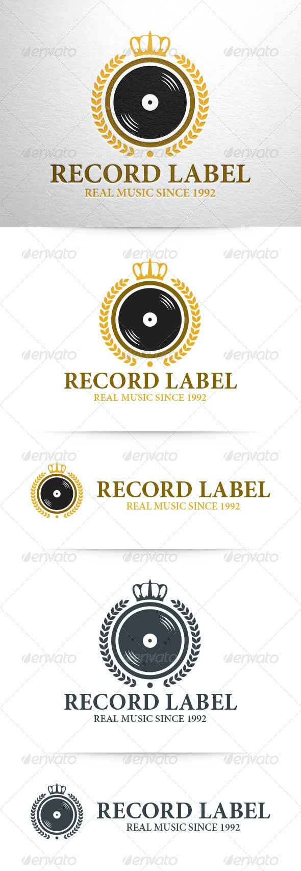 Record Label Logo Template - Objects Logo Templates