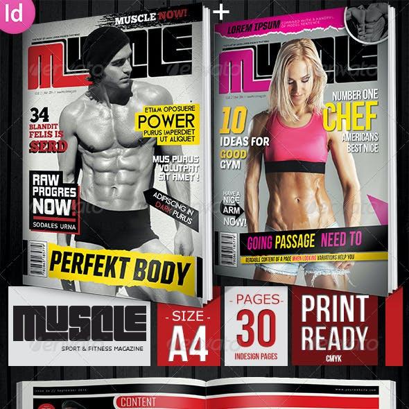 Sport & Fitness Magazine + 2 Covers