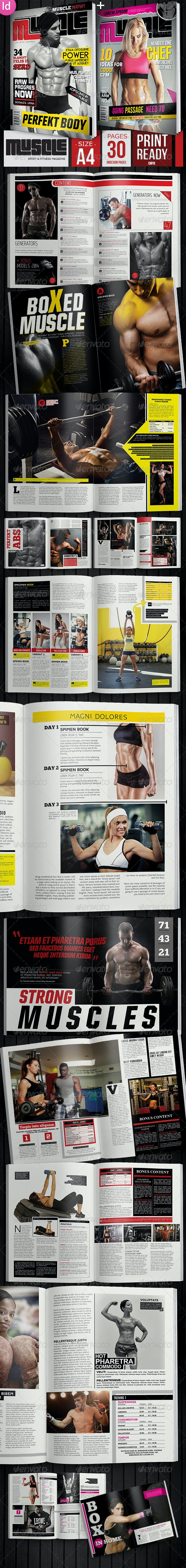 Sport & Fitness Magazine + 2 Covers - Magazines Print Templates