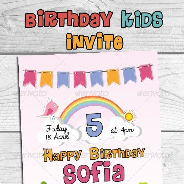 Birthday Kids Invite