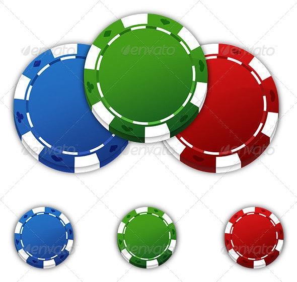 Poker Chips - Decorative Symbols Decorative