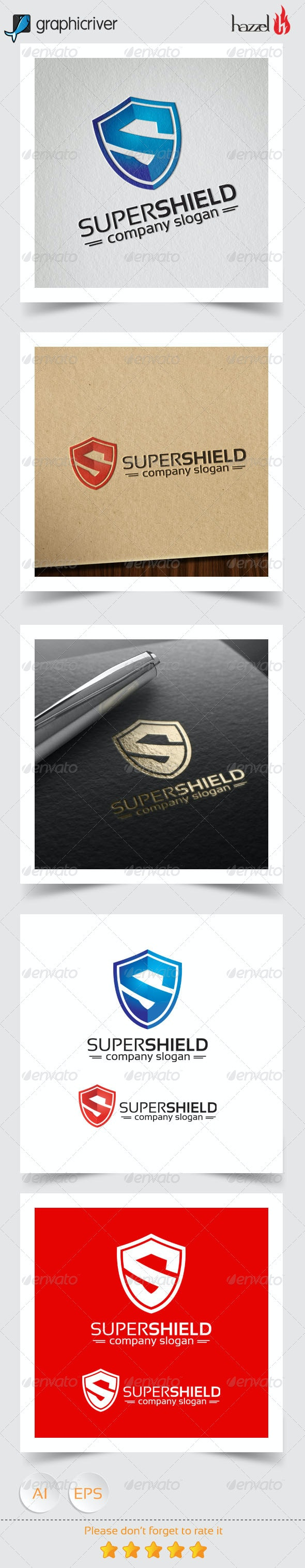 Super Shield - Letter S Logo - Letters Logo Templates