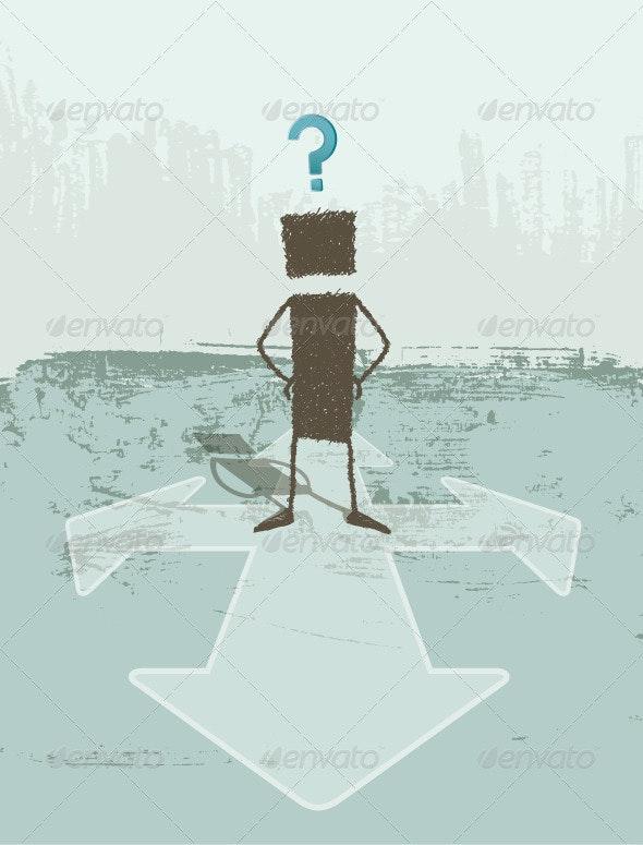 Business Concept of Doubt - Concepts Business