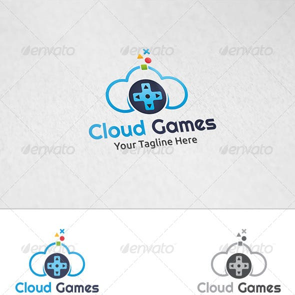 Cloud Games - Logo Template