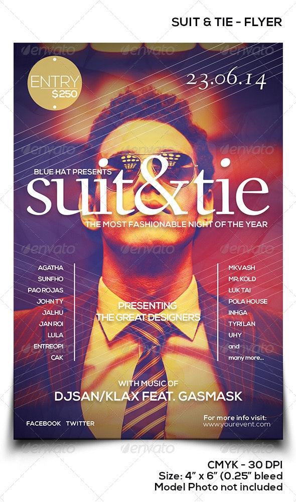 Suit & Tie - Events Flyers