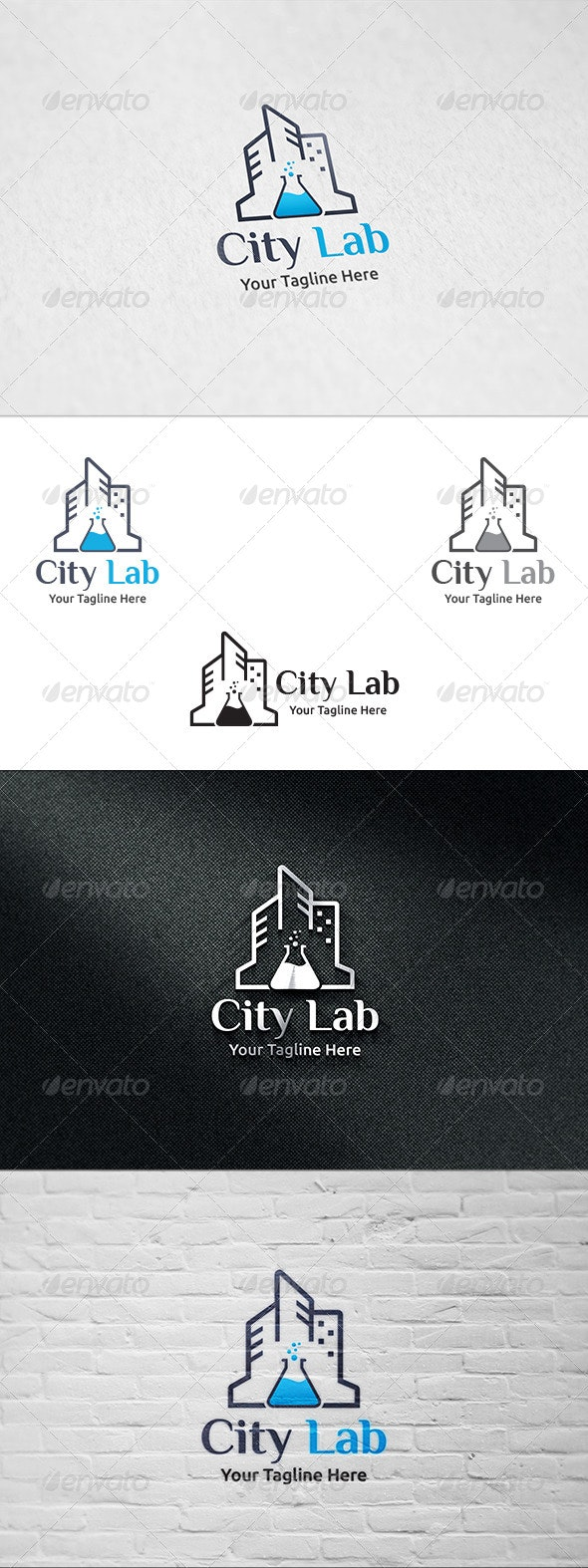 City Lab - Logo Template - Buildings Logo Templates
