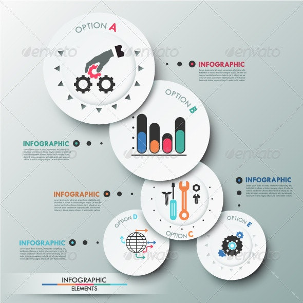 Modern Infographics Options Banner With Circles - Infographics