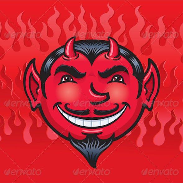 Smiling Devil Face