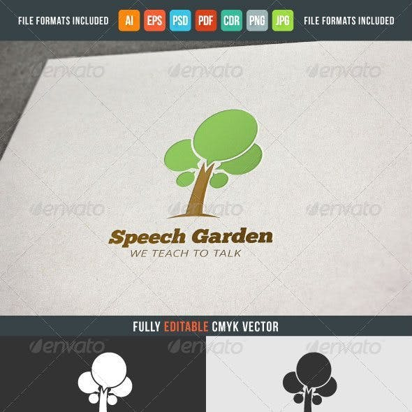 Speech Garden Logo Template