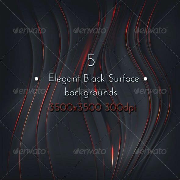 Elegant Black Metal Surface