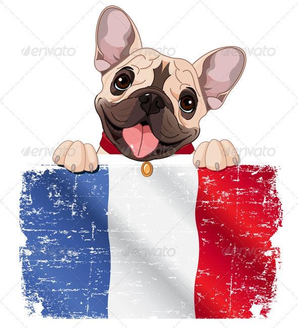 French Bulldog Fan - Animals Characters