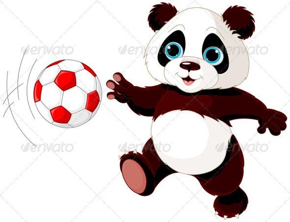 Panda Hits the Ball - Animals Characters