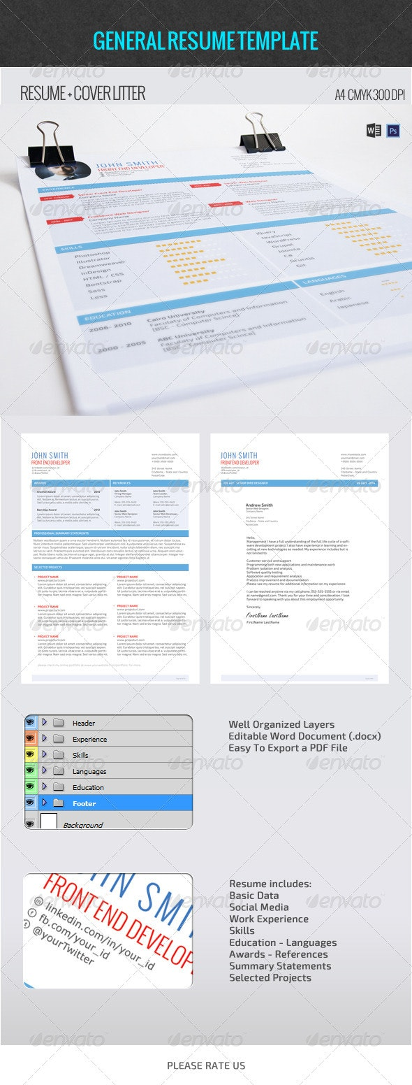 General Resume Template - Resumes Stationery