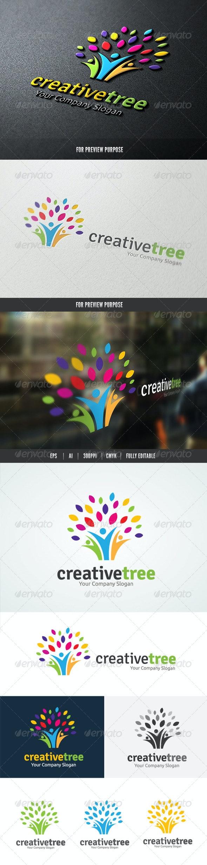 People Creative Tree logo - Humans Logo Templates