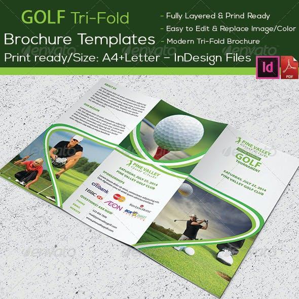 Golf Tournament Trifold Brochure
