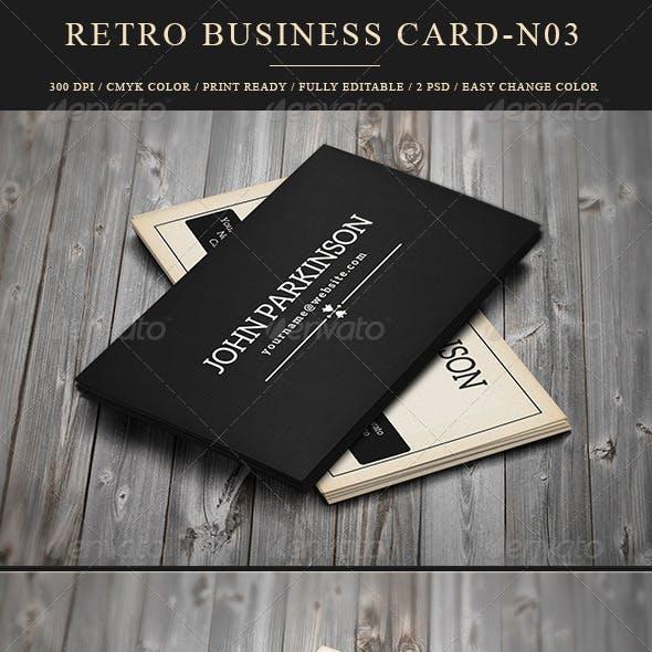 Retro Business Card