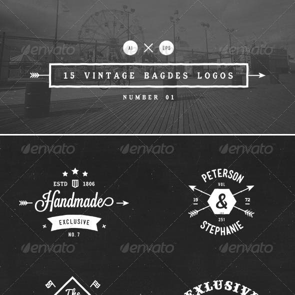 15 Vintage Badges Logos Number 01