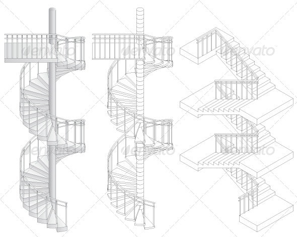 Staircases - Buildings Objects