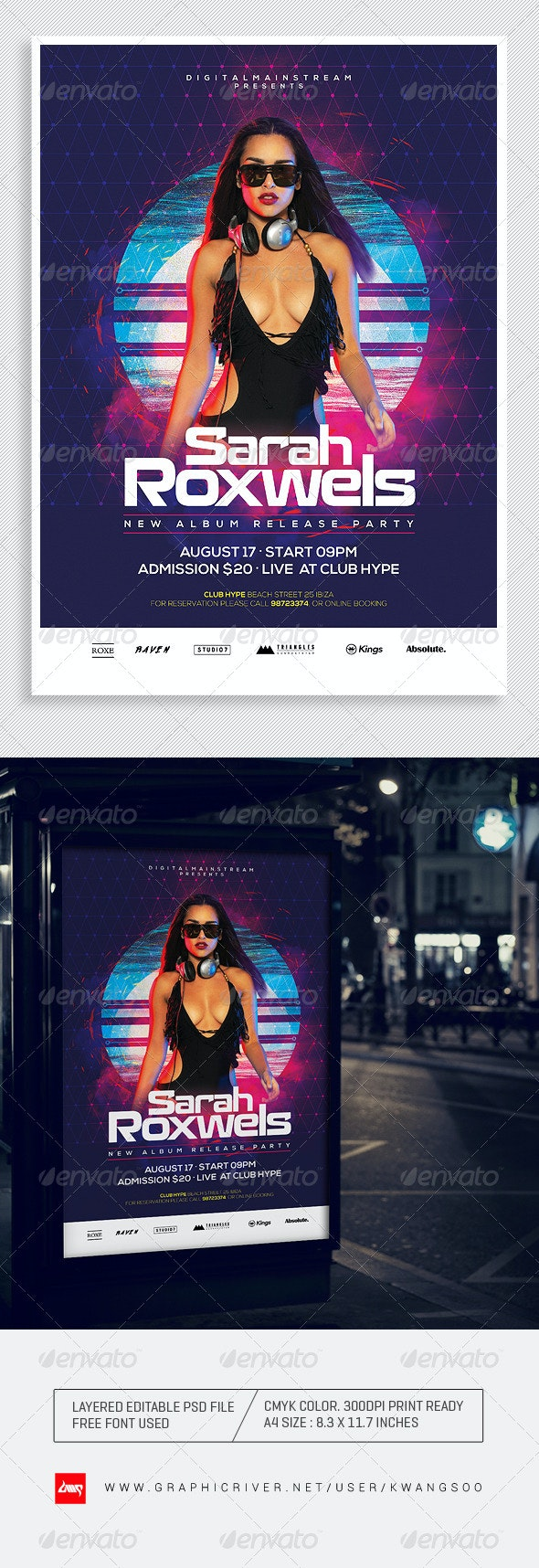 Special Dj Electronic Dance Music Flyer / Poster 1 - Clubs & Parties Events