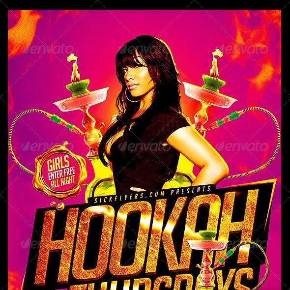 Hookah Lounge Flyer Template PSD