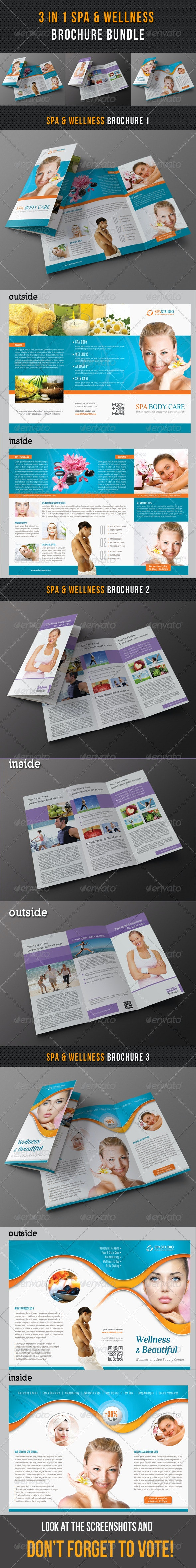 3 in 1 Spa Wellness Brochure Bundle 02 - Corporate Brochures