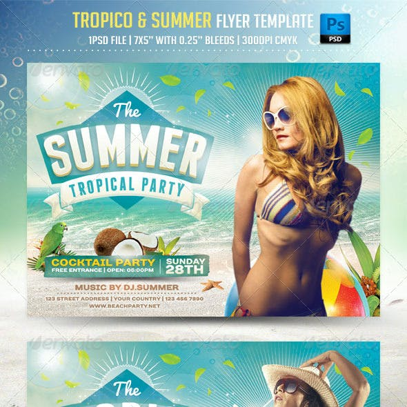 Tropico and Summer Flyer Template