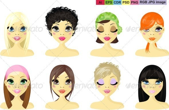 Avatar Icon Women - People Characters