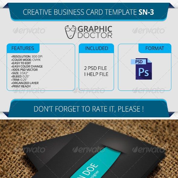 Creative Business Card Template SN-3