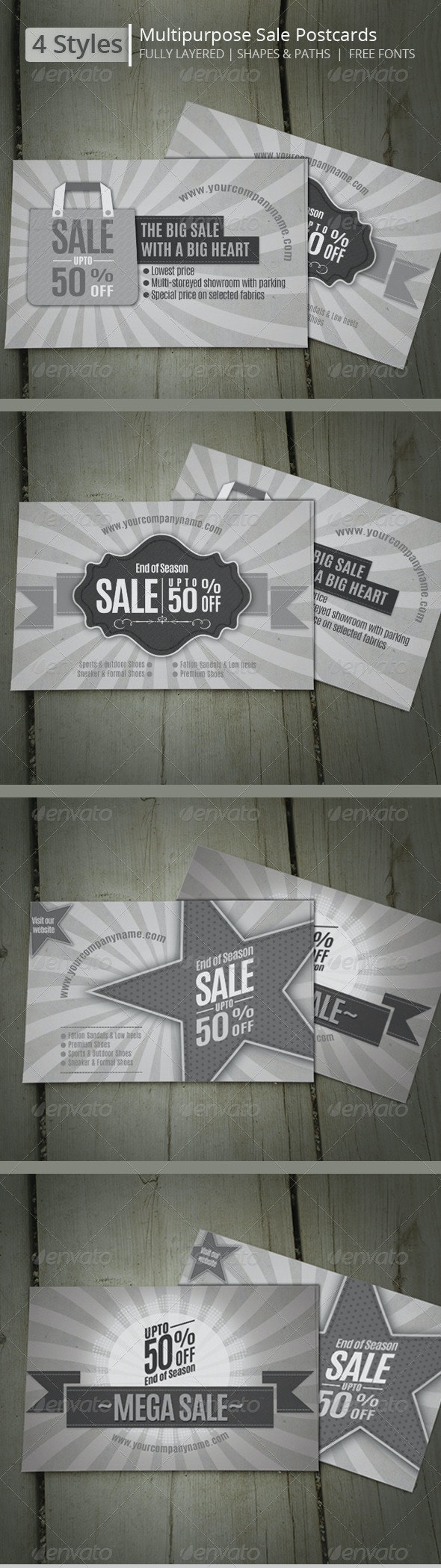 Multipurpose Sales Postcards  - Events Flyers