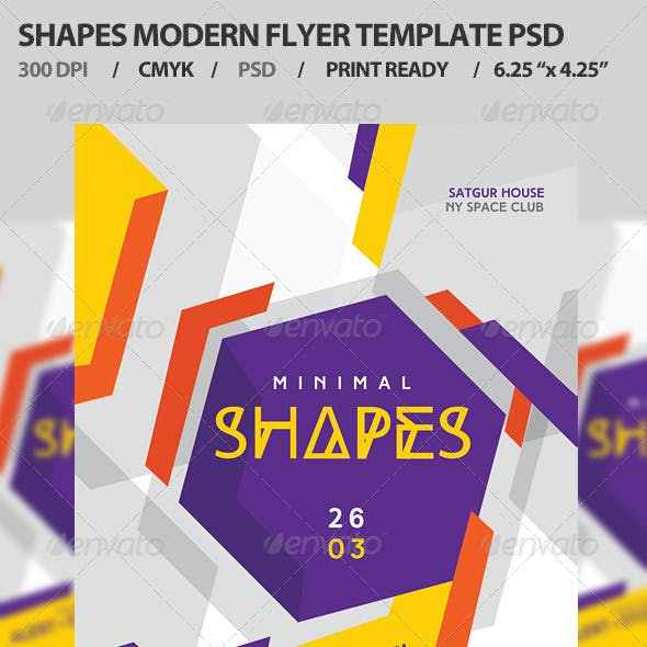 Shapes Flyer Template PSD