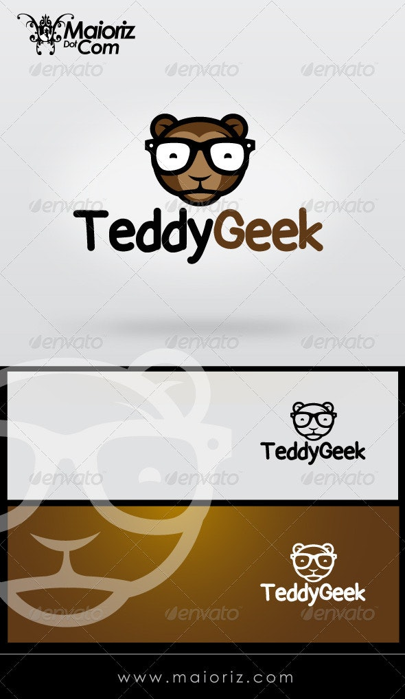 Teddy Geek Logo Template - Animals Logo Templates