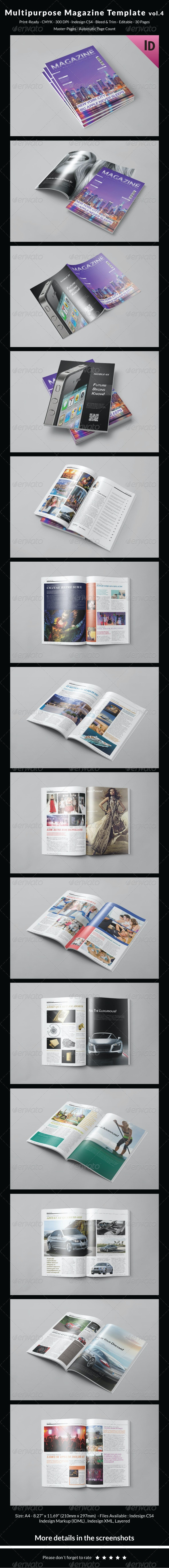 Multipurpose Magazine Template Vol.4 - Magazines Print Templates