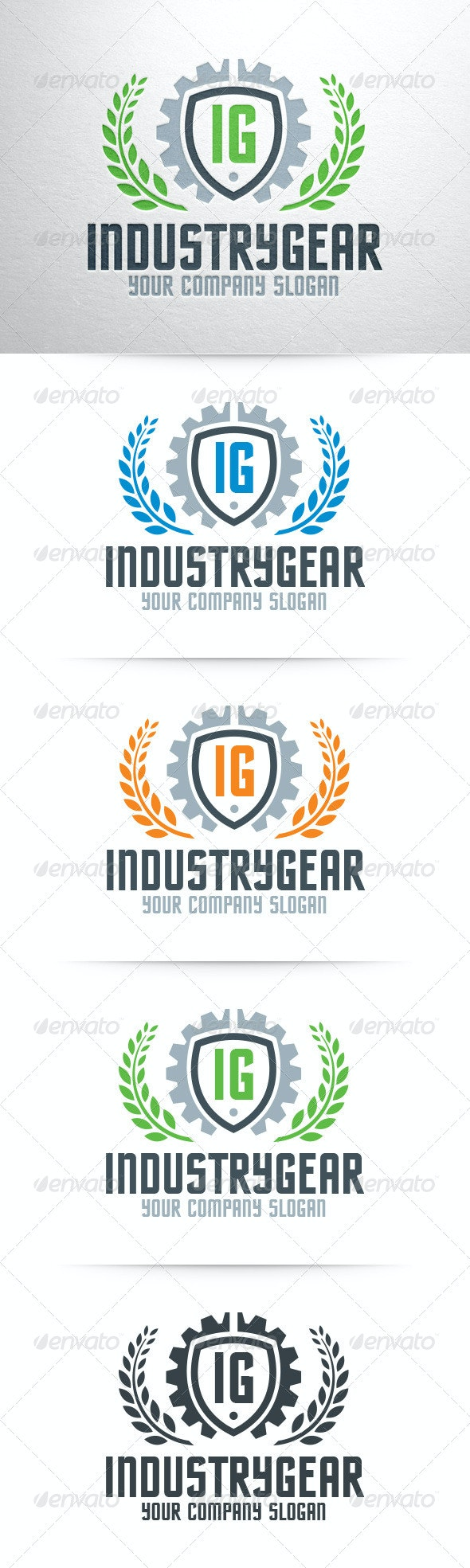 Industry Gear Logo Template - Crests Logo Templates