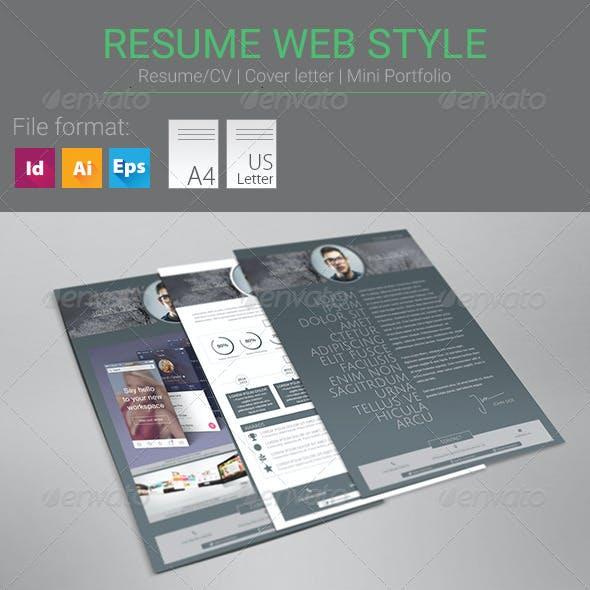 Resume Web Style