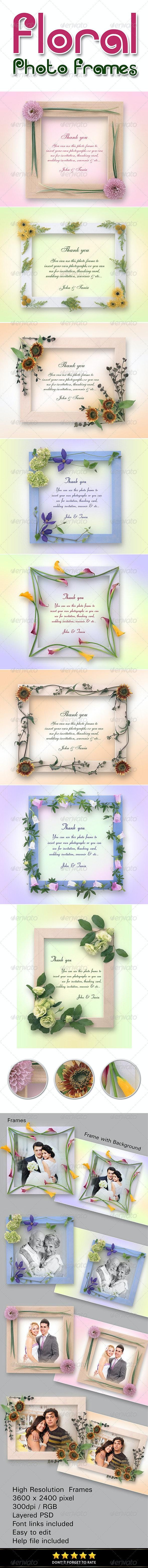 Floral Photo Frames - Photo Templates Graphics