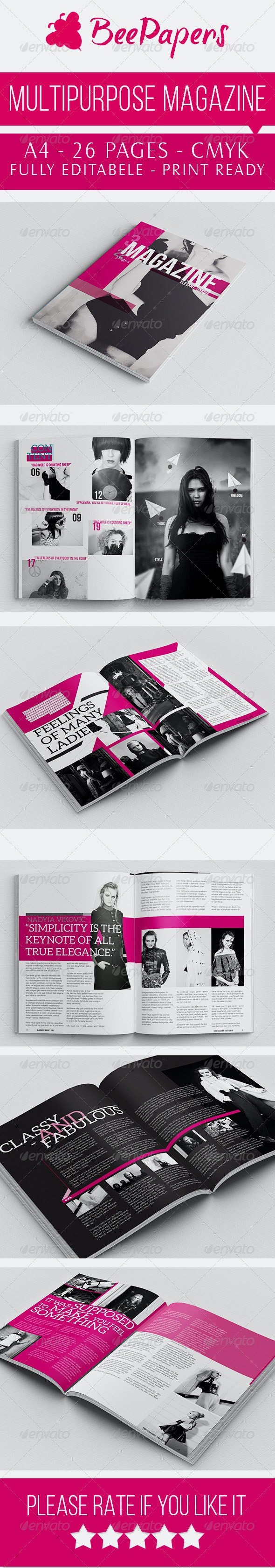 Unique Magazine Indesign - Magazines Print Templates