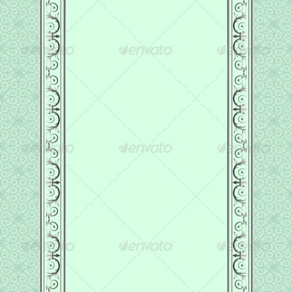 Green Background - Borders Decorative