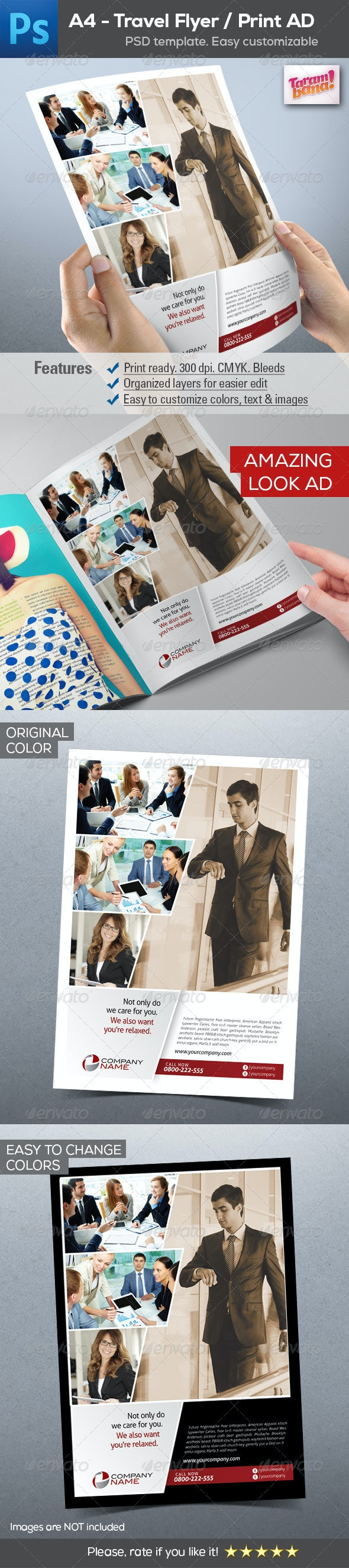 A4 Business Flyer / Print AD layout - Corporate Flyers